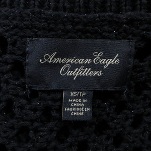 American Eagle Outfitters Sweaters - American Eagle sweater XS blue metallic weave knit